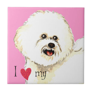 I Love my Bichon Frise Tile