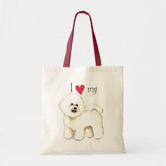 I Love my Bichon Frise Tote Bag