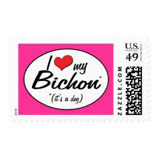 I Love My Bichon (It's a Dog) Postage