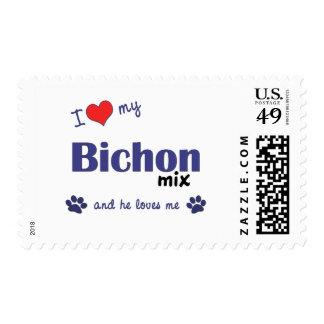 I Love My Bichon Mix (Male Dog) Postage