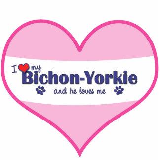I Love My Bichon-Yorkie (Male Dog) Cut Outs