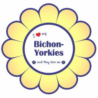 I Love My Bichon-Yorkies (Multiple Dogs) Photo Cutouts