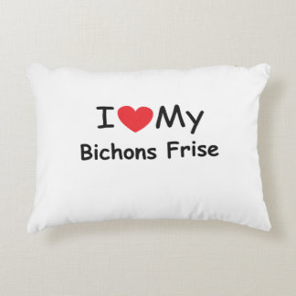 I love my Bichons Frise dog Accent Pillow