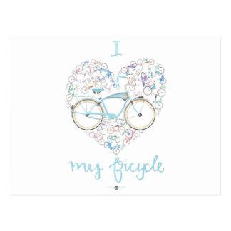 I love my Bicycle.jpg Postcard