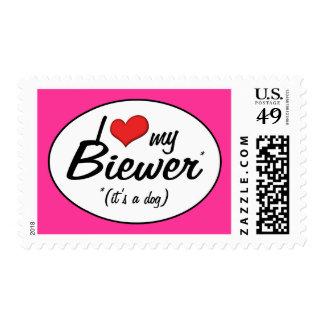 I Love My Biewer (It's a Dog) Postage
