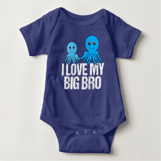 I Love My Big Bro Cute Little Brother Baby Bodysuit