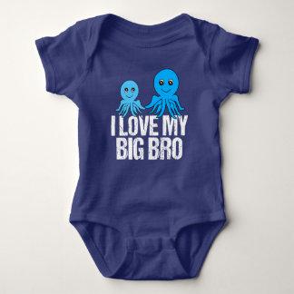 I Love My Big Bro Cute Little Brother Baby Bodysuit