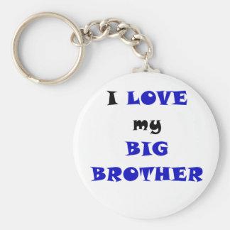 I Love my Big Brother Basic Round Button Keychain