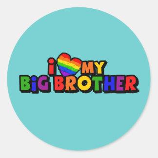I Love My Big Brother Classic Round Sticker