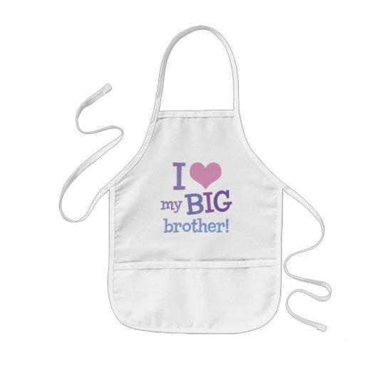 I Love My Big Brother Kids' Apron