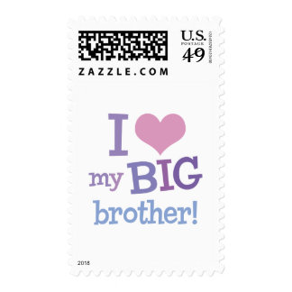 I Love My Big Brother Postage Stamps