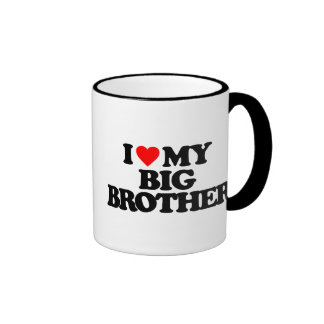 I LOVE MY BIG BROTHER RINGER COFFEE MUG