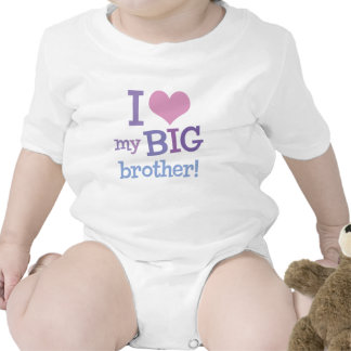 I Love My Big Brother Rompers