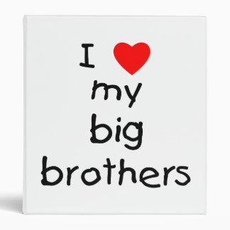 I Love My Big Brothers 3 Ring Binder