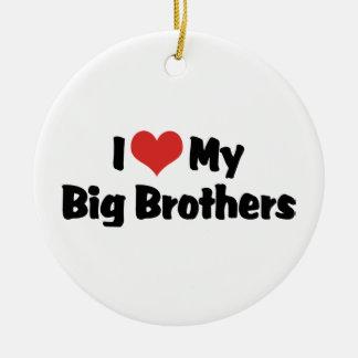 I Love My Big Brothers Christmas Tree Ornament