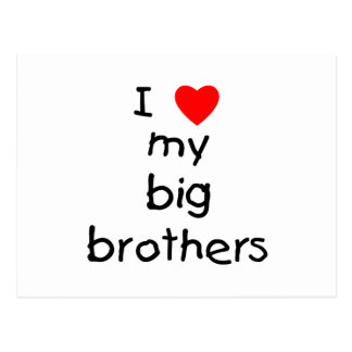 I Love My Big Brothers Postcard