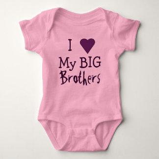 I LOVE My Big Brothers T Baby Bodysuit