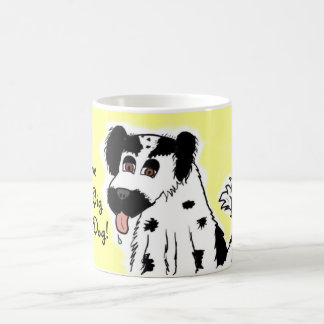I Love My Big Fluffy Dog Border Collie Coffee Mug