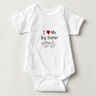 I Love My Big Sister! Baby Bodysuit