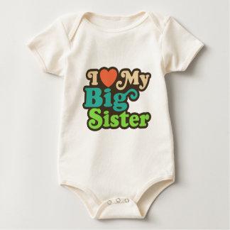 I Love My Big Sister Baby Bodysuit