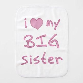 I Love My Big Sister Baby Burp Cloth