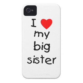 I Love My Big Sister iPhone 4 Cover