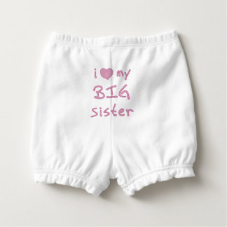 I Love My Big Sister Heart Diaper Cover