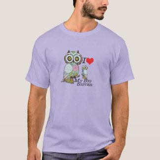 I-Love my-big Sister Owl T-shirt