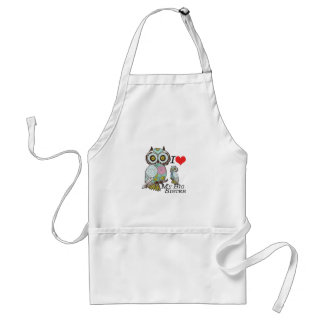 I-Love my-big Sister Owls  Multiple Product Select Adult Apron