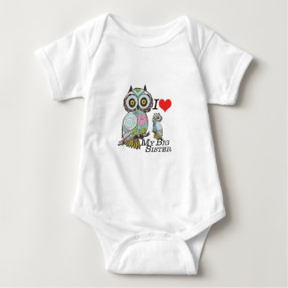 I-Love my-big Sister Owls  Multiple Product Select Baby Bodysuit