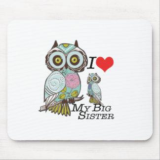 I-Love my-big Sister Owls  Multiple Product Select Mousepad