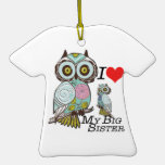 I-Love my-big Sister Owls  Multiple Product Select Christmas Tree Ornament