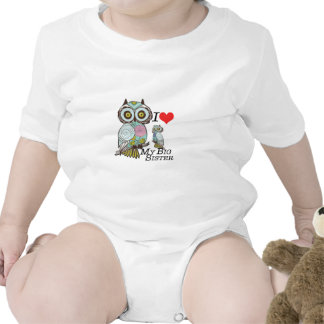 I-Love my-big Sister Owls  Multiple Product Select Rompers