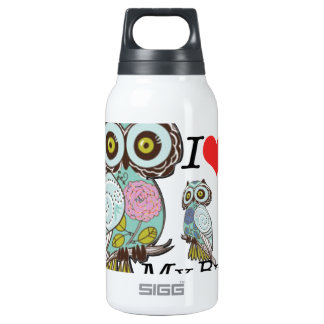I-Love my-big Sister Owls  Multiple Select Thermos Water Bottle