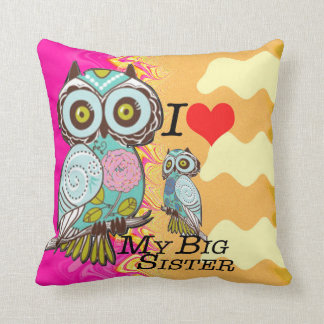 I Love my big Sister Polyester Throw Pillow