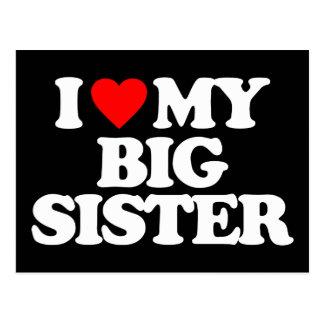 I LOVE MY BIG SISTER POSTCARD