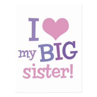 I Love My Big Sister Post Cards