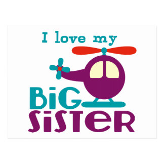 I love my Big Sister Postcard