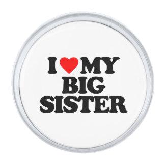 I LOVE MY BIG SISTER SILVER FINISH LAPEL PIN