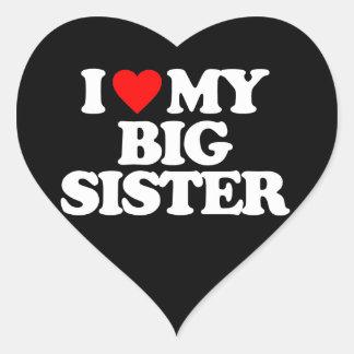 I LOVE MY BIG SISTER STICKERS