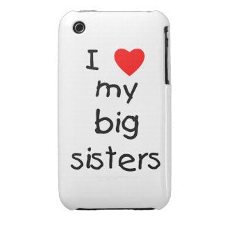 I Love My Big Sisters iPhone 3 Cover