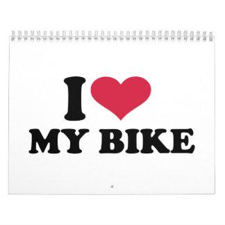 I Love my bike Bicycle Calendars