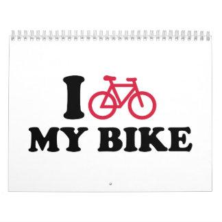 I Love my bike Bicycle Wall Calendar