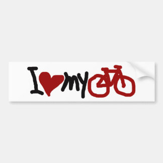 I love my bike bumper sticker