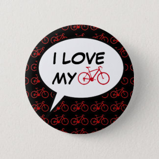 i love my bike cartoon pinback button