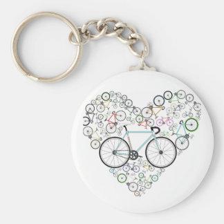 I Love My Bike Keychain