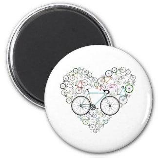 I Love My Bike 2 Inch Round Magnet