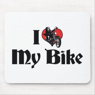 I Love My Bike Mouse Pad