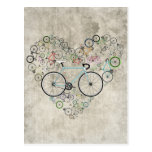 I Love My Bike Postcard