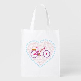 I Love My Bike Reusable Grocery Bag